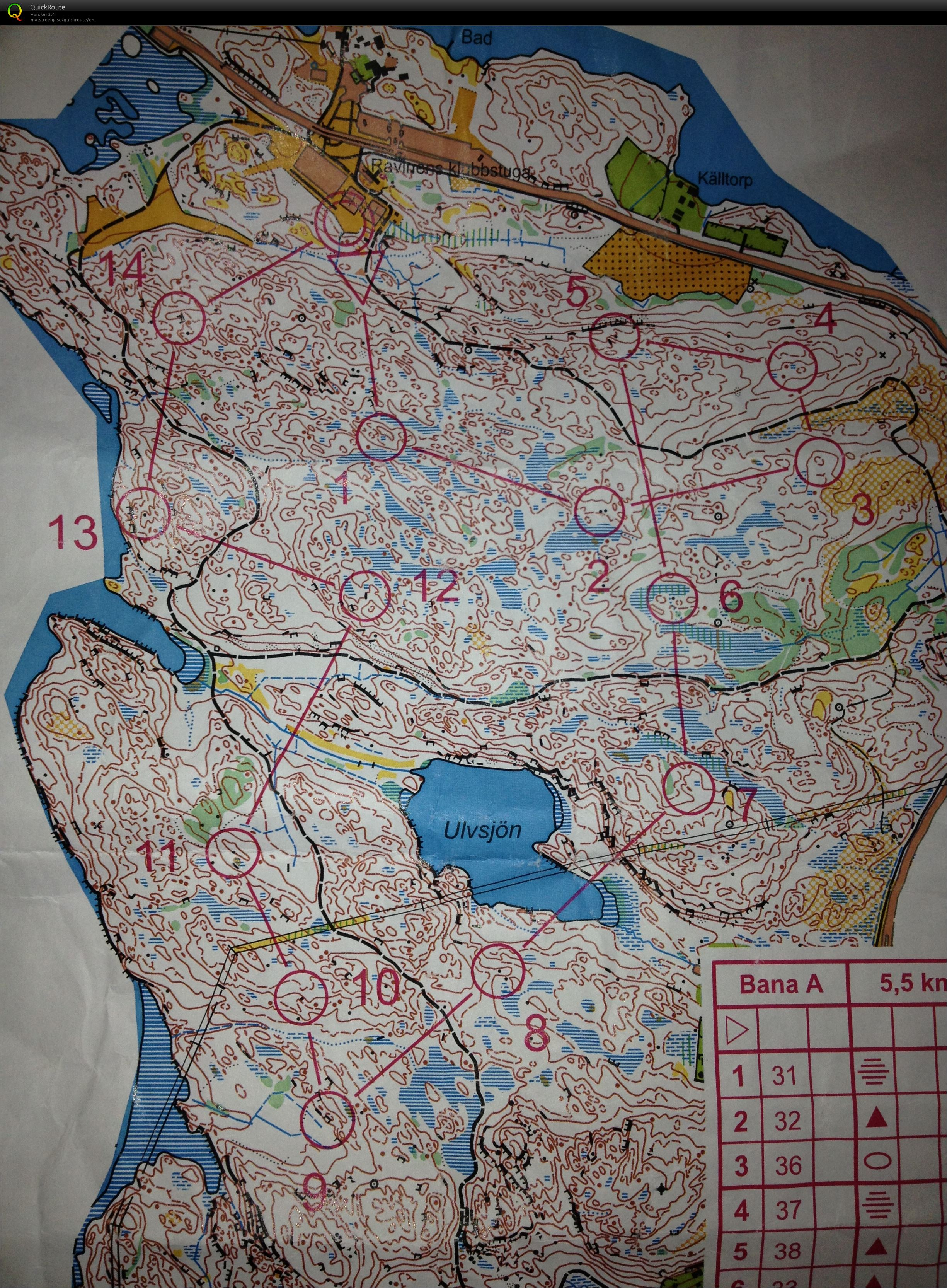 Mostly No Paths and No Kites - Pre-Jukola (13/06/2014)