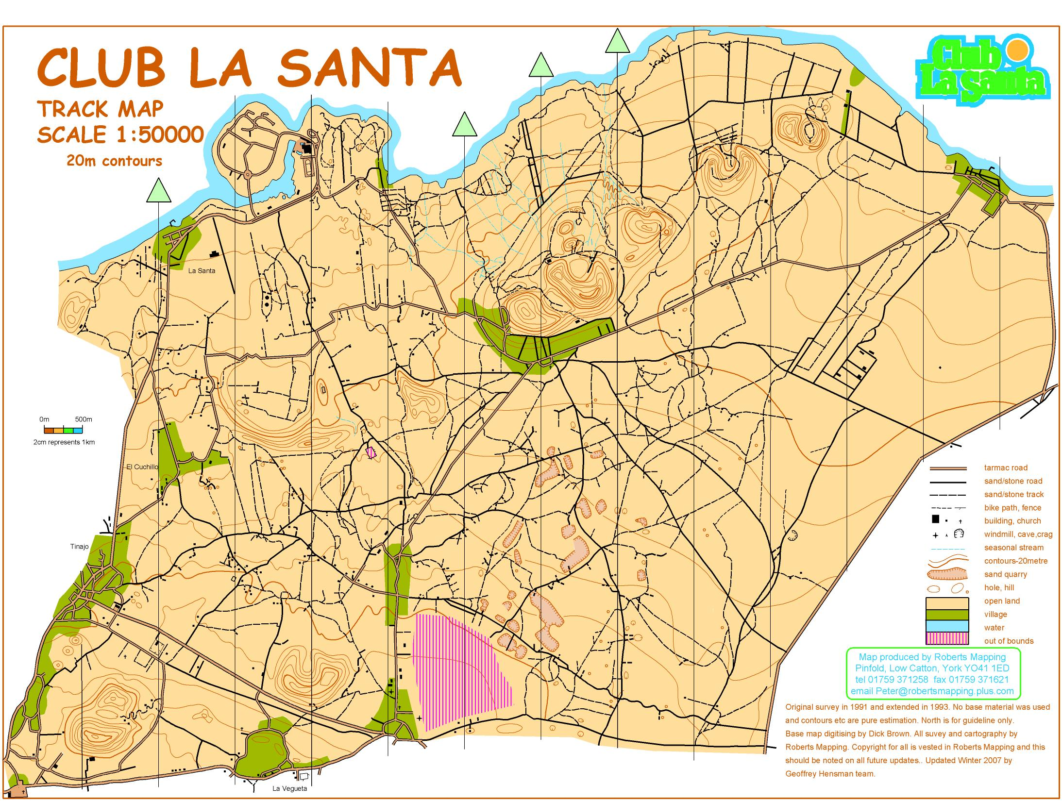 Club La Santa 1 to 50k Map (01/01/2012)