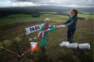 Starting an orienteering event as an outdoor sporting activity in Scotland