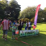 Finish point at a local orienteering event and family day out