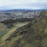 Salisbury Crags Edinburgh orienteering event in great outdoors