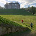 Orienteering adventurous sport in Scottish castle grounds