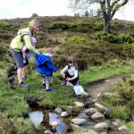 Family outdoor activity when Scottish Orienteering in the great outdoors