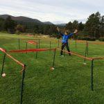 Orienteering finishing navigation maze in the Scottish Outdoors