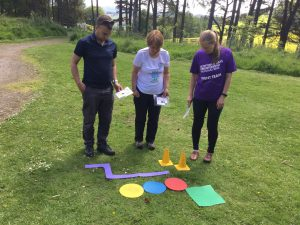 Orienteering training in the Scottish outdoors