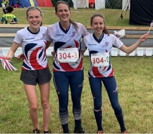 Megan Keith, Grace Molloy and Fiona Bunn took Britain's first ever JWOC gold medal