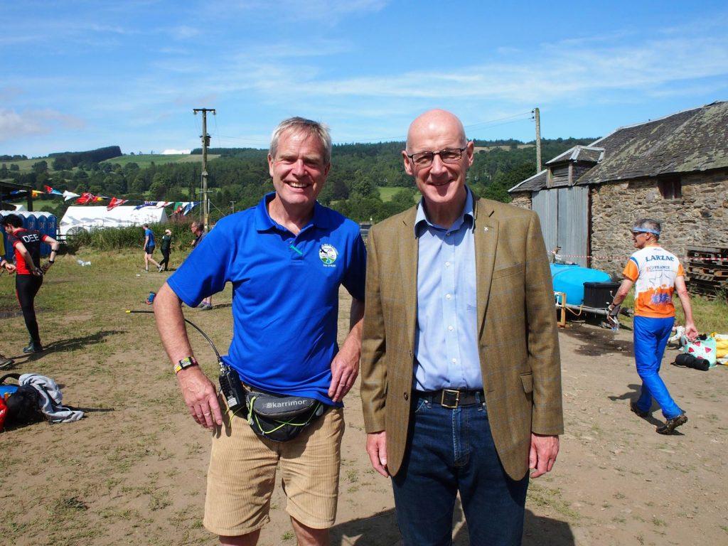 Day organiser Sam and Deputy First Minister of Scotland, John Swinney