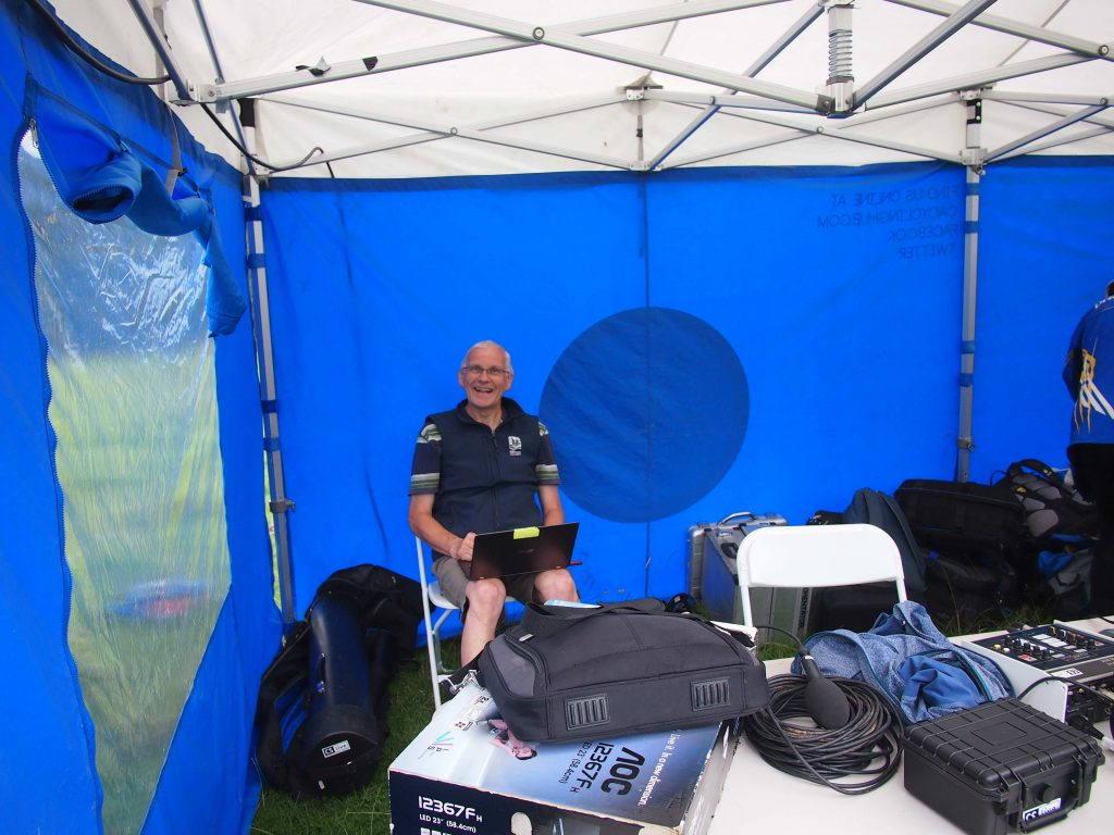 Keith Roberts - helping broadcast the Scottish 6 Days to the world via satellite